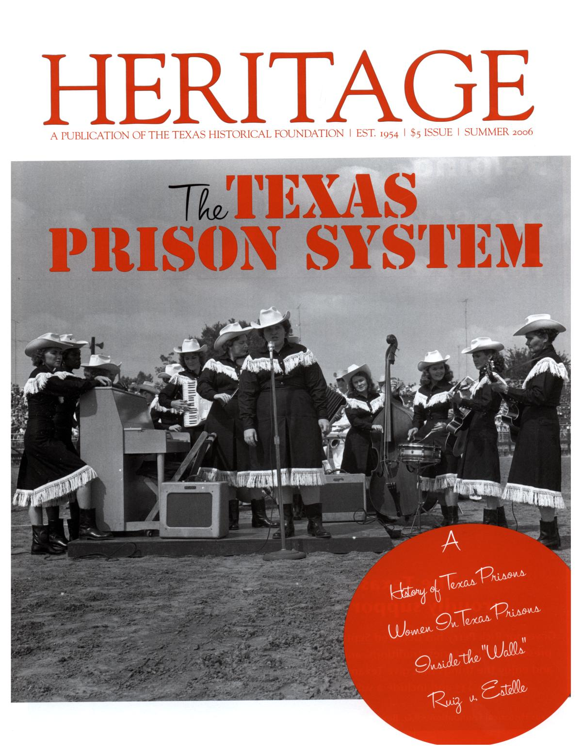 Heritage, Summer 2006                                                                                                      Front Cover