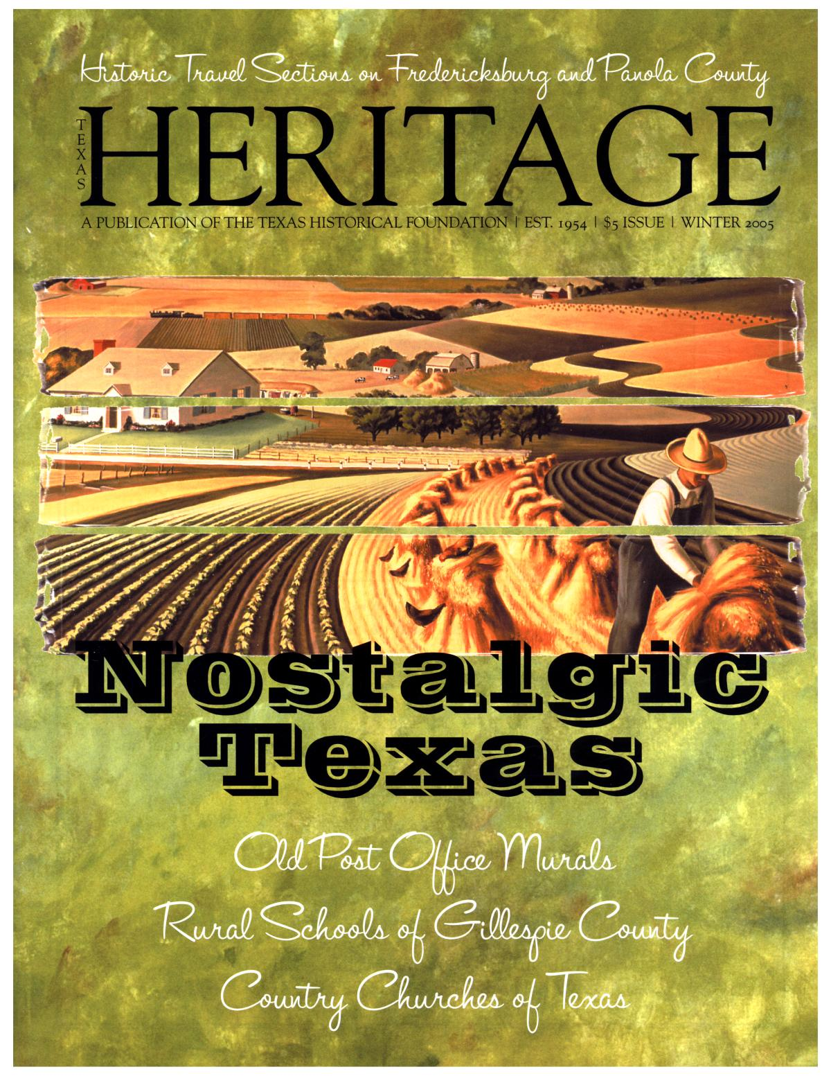 Texas Heritage, Winter 2005                                                                                                      Front Cover