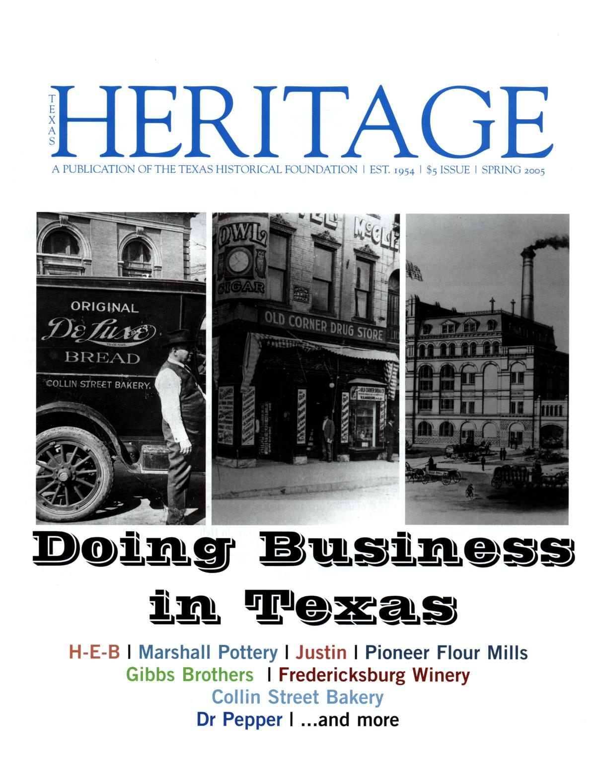 Heritage, Spring 2005                                                                                                      Front Cover