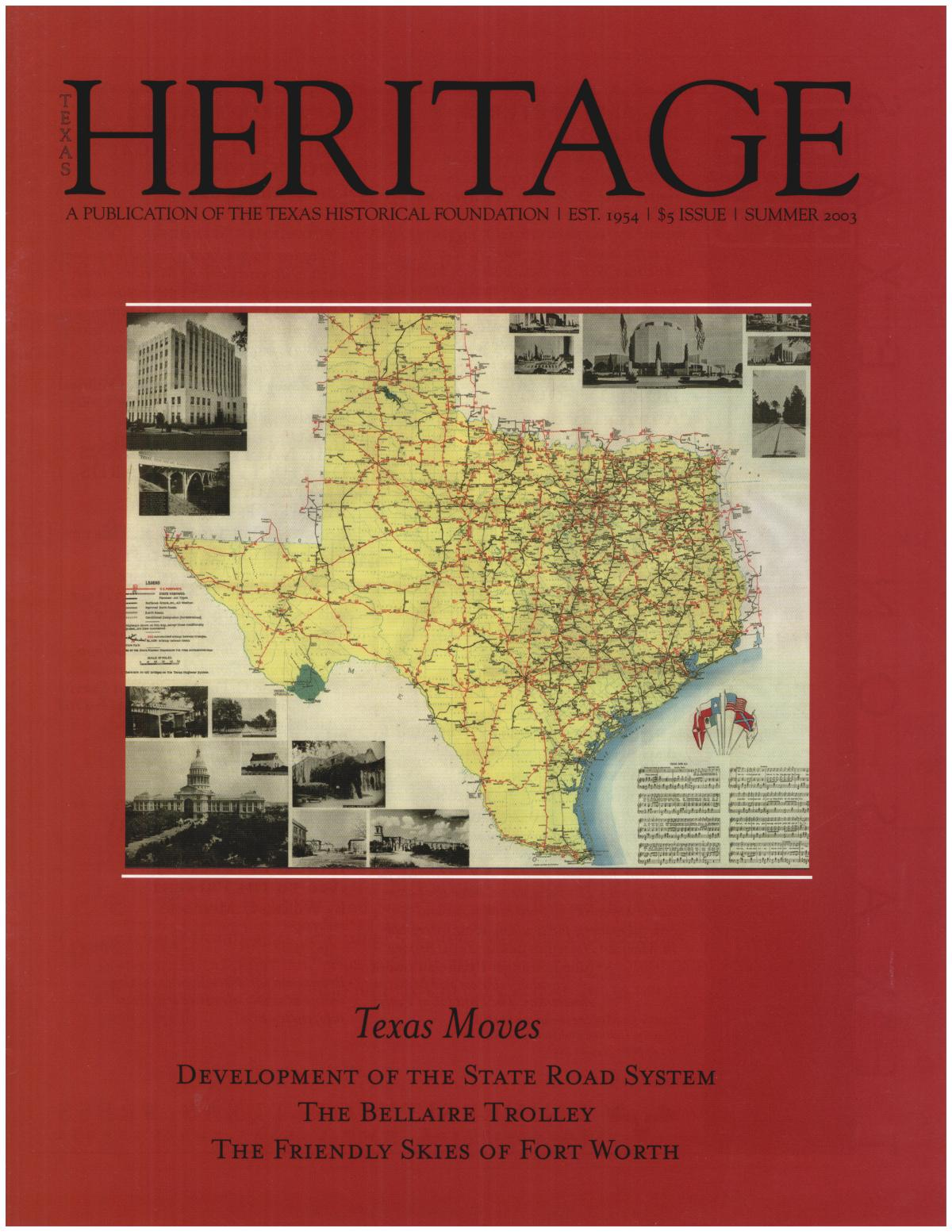 Heritage, Summer 2003                                                                                                      Front Cover
