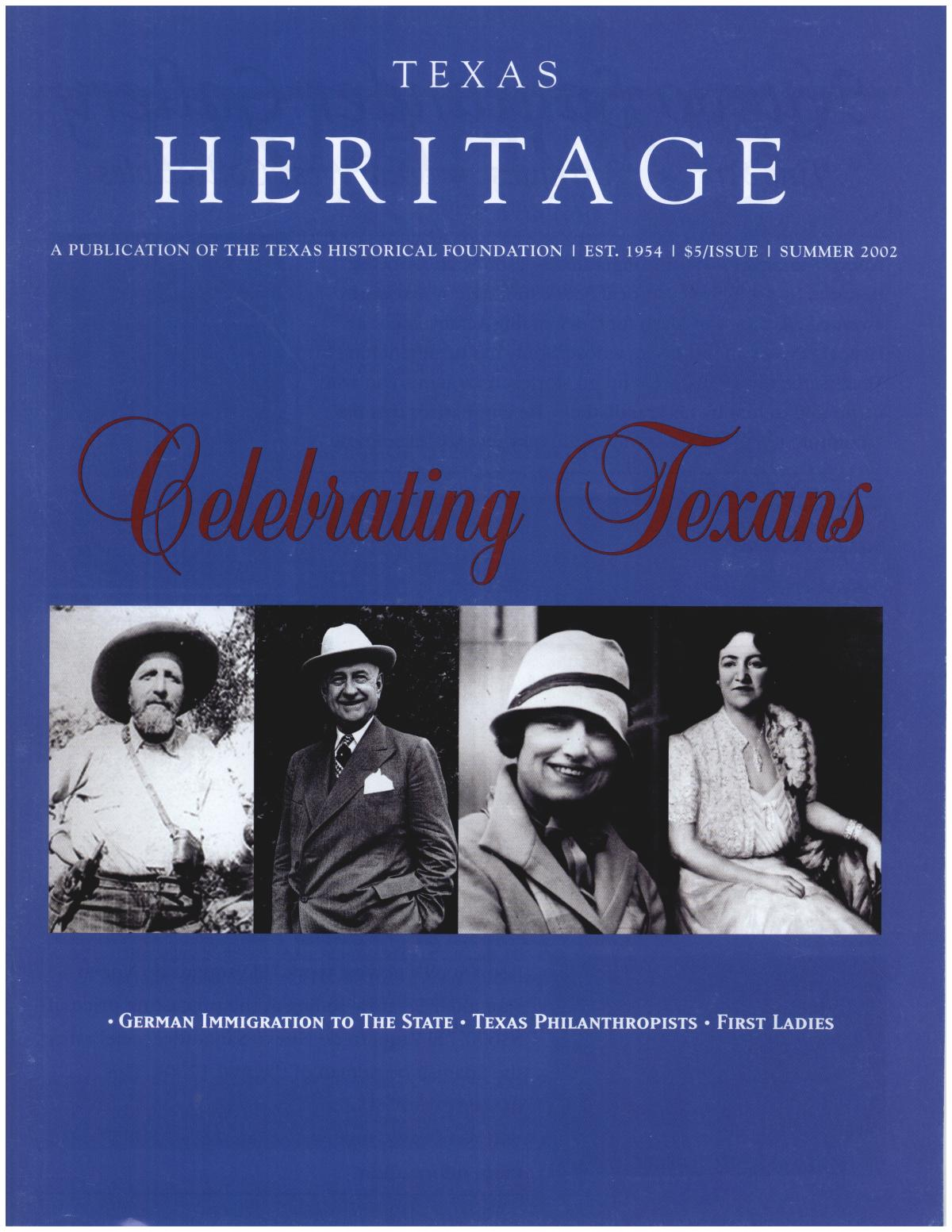 Texas Heritage, Summer 2002                                                                                                      Front Cover