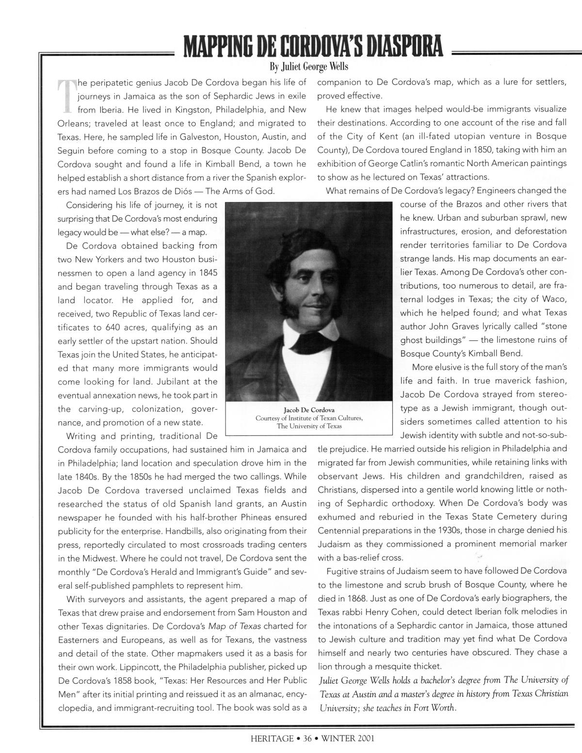 Texas Heritage, Volume 19, Number 1, Winter 2001                                                                                                      36