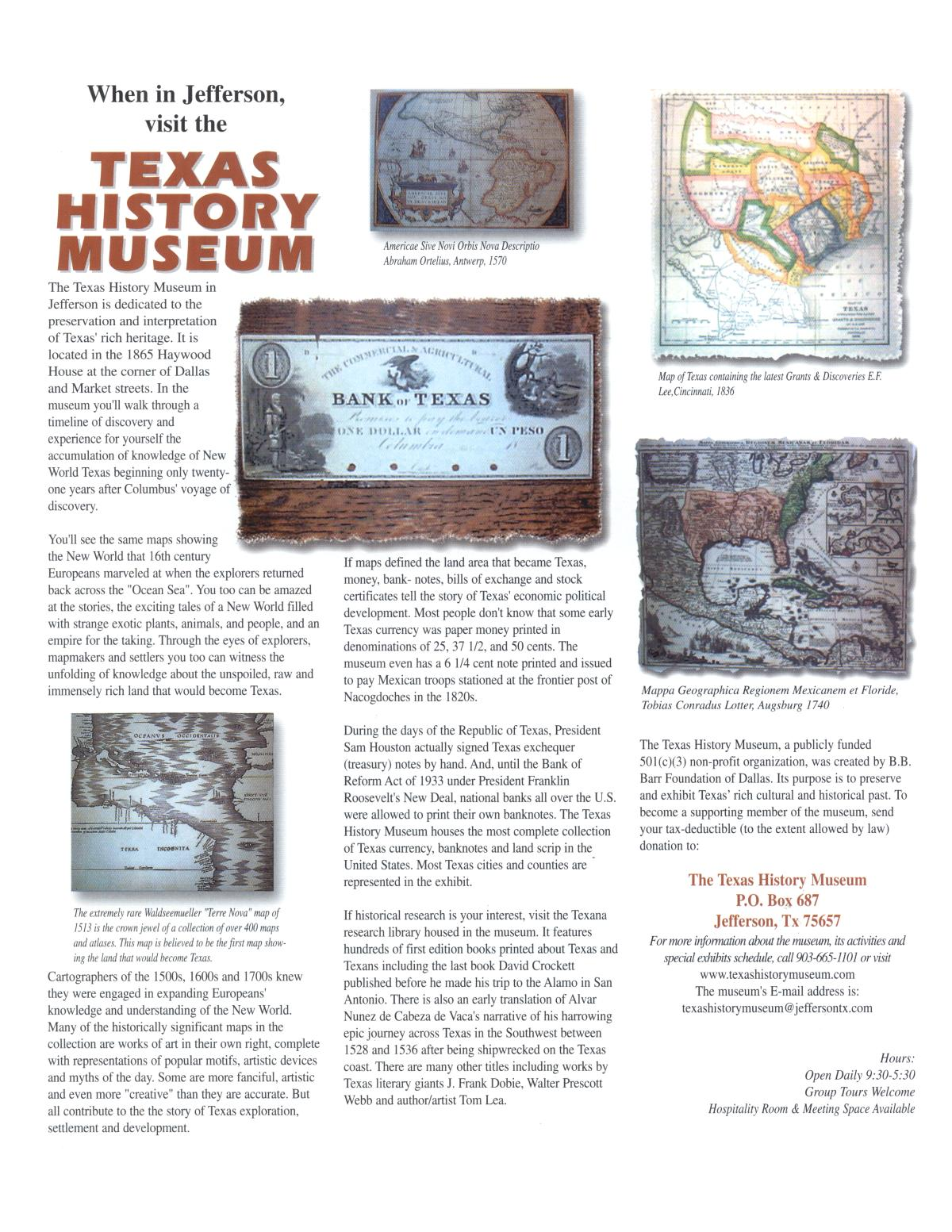Texas Heritage, Volume 19, Number 1, Winter 2001                                                                                                      55