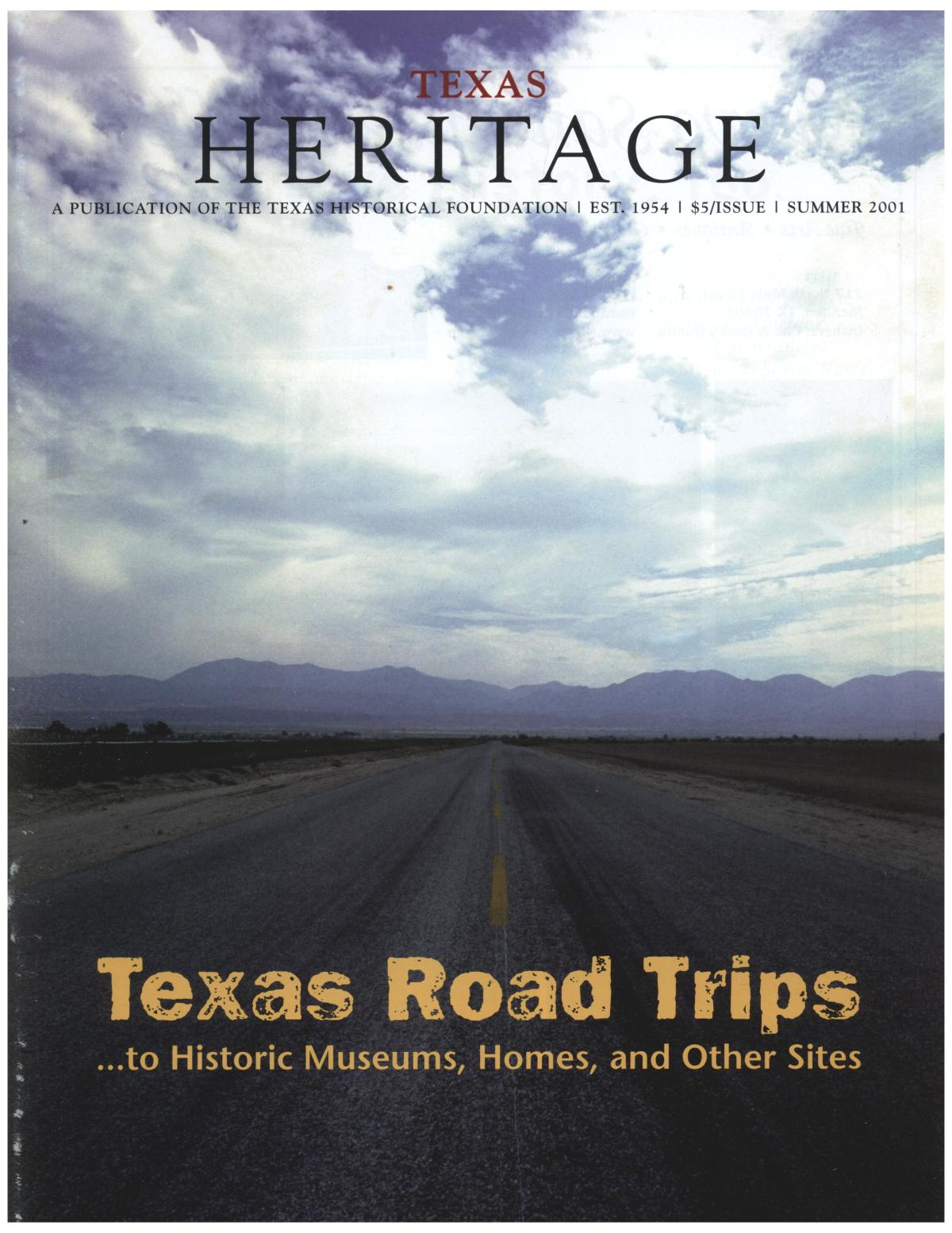 Texas Heritage, Summer 2001                                                                                                      Front Cover