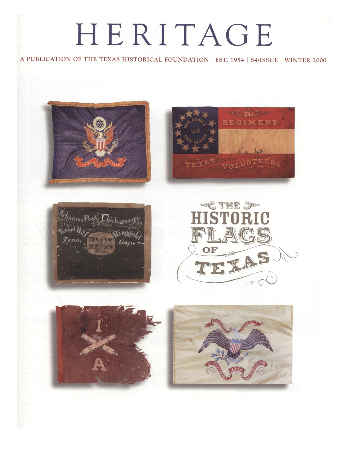 Heritage, Volume 18, Number 1, Winter 2000                                                                                                      Front Cover