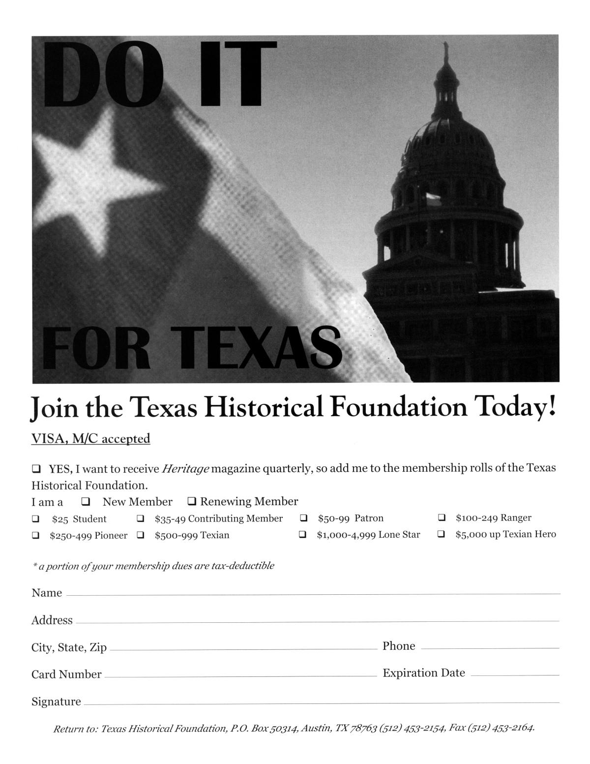 Texas Heritage, Volume 18, Number 3, Summer 2000                                                                                                      13