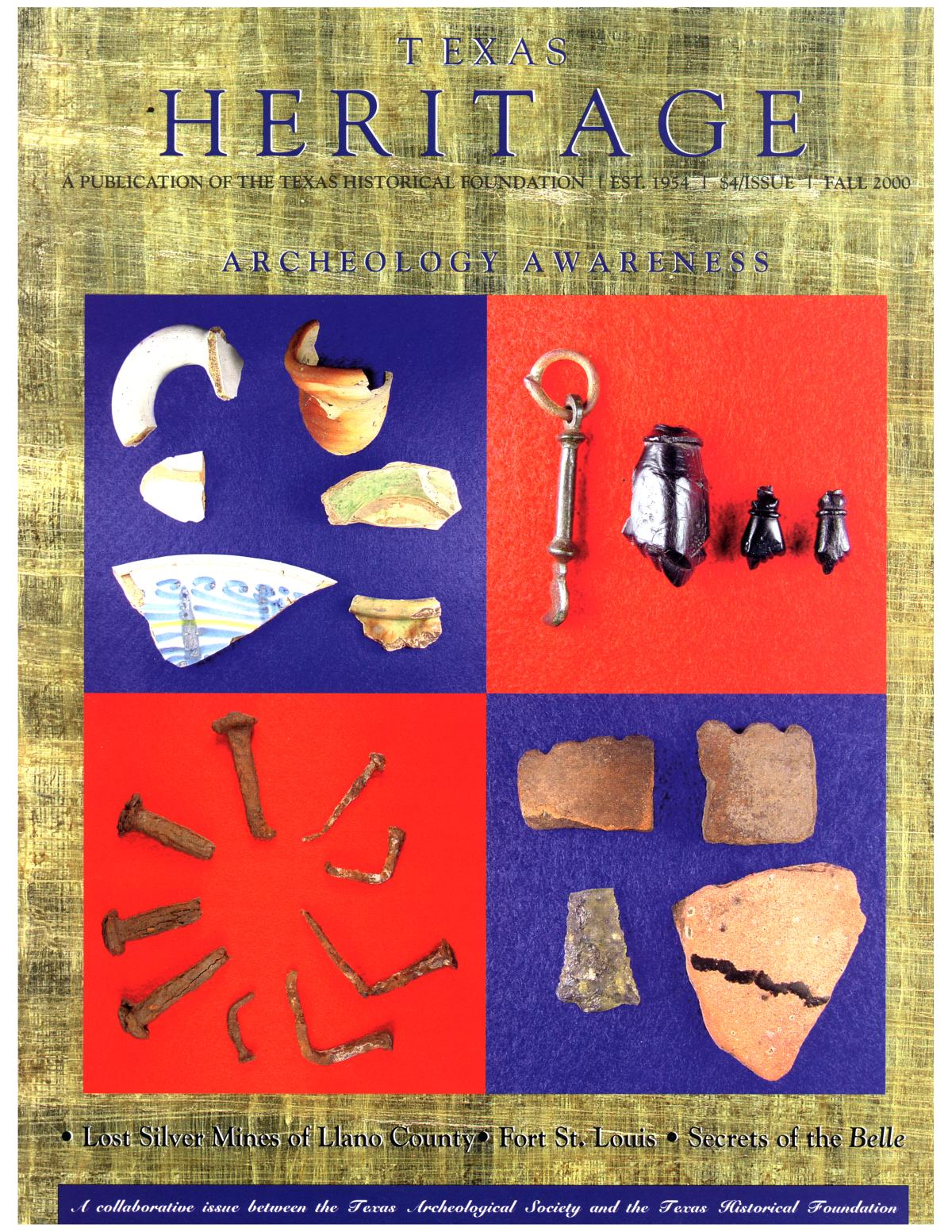 Texas Heritage, Volume 18, Number 4, Fall 2000                                                                                                      Front Cover