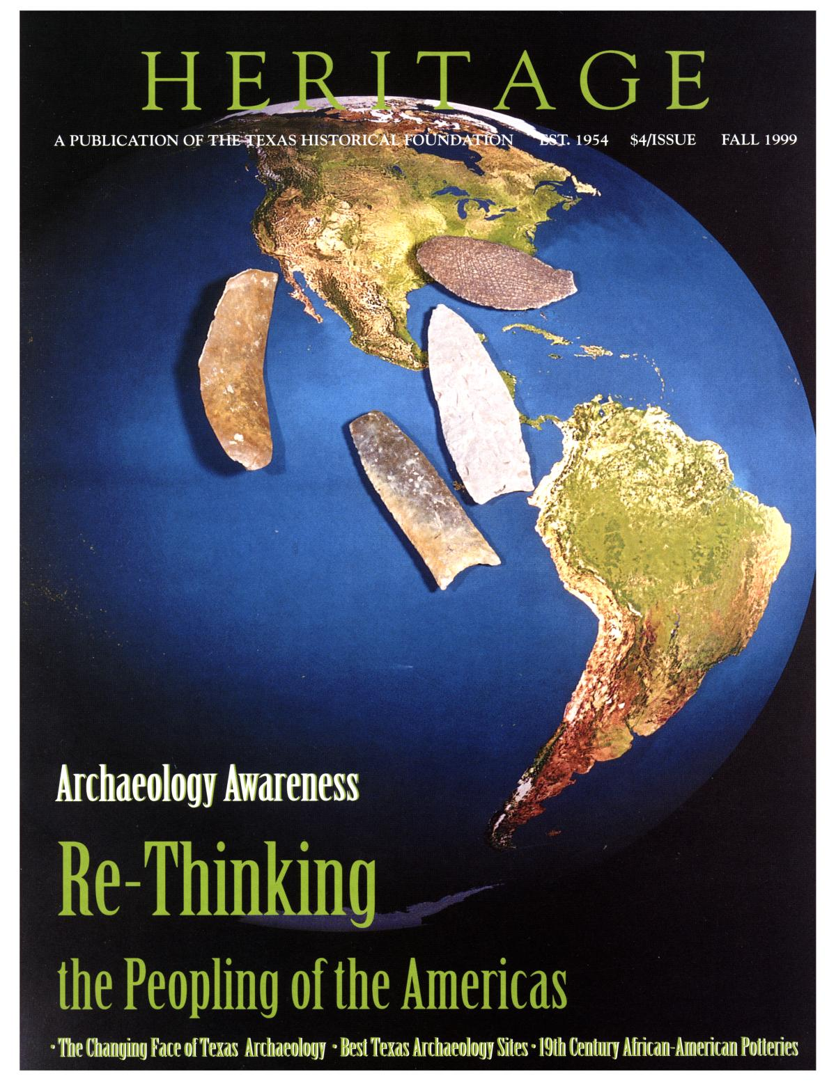 Heritage, Volume 17, Number 4, Fall 1999                                                                                                      Front Cover