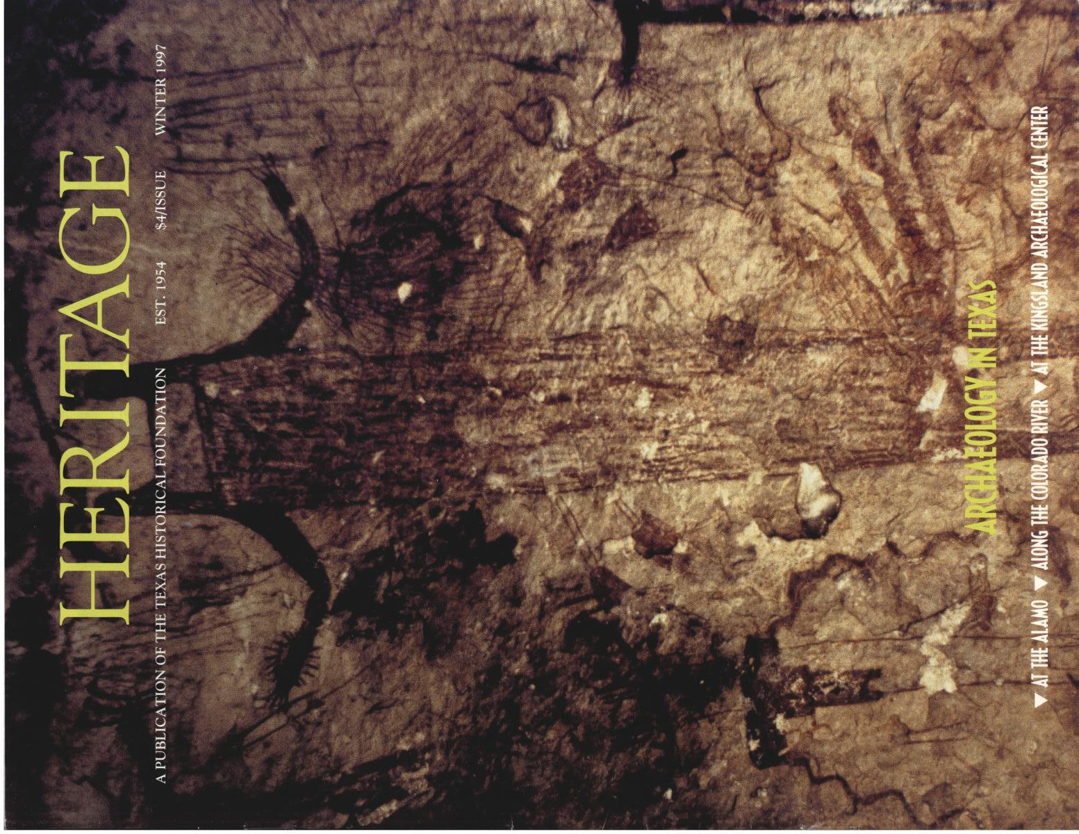 Heritage, Volume 15, Number 1, Winter 1997                                                                                                      Front Cover
