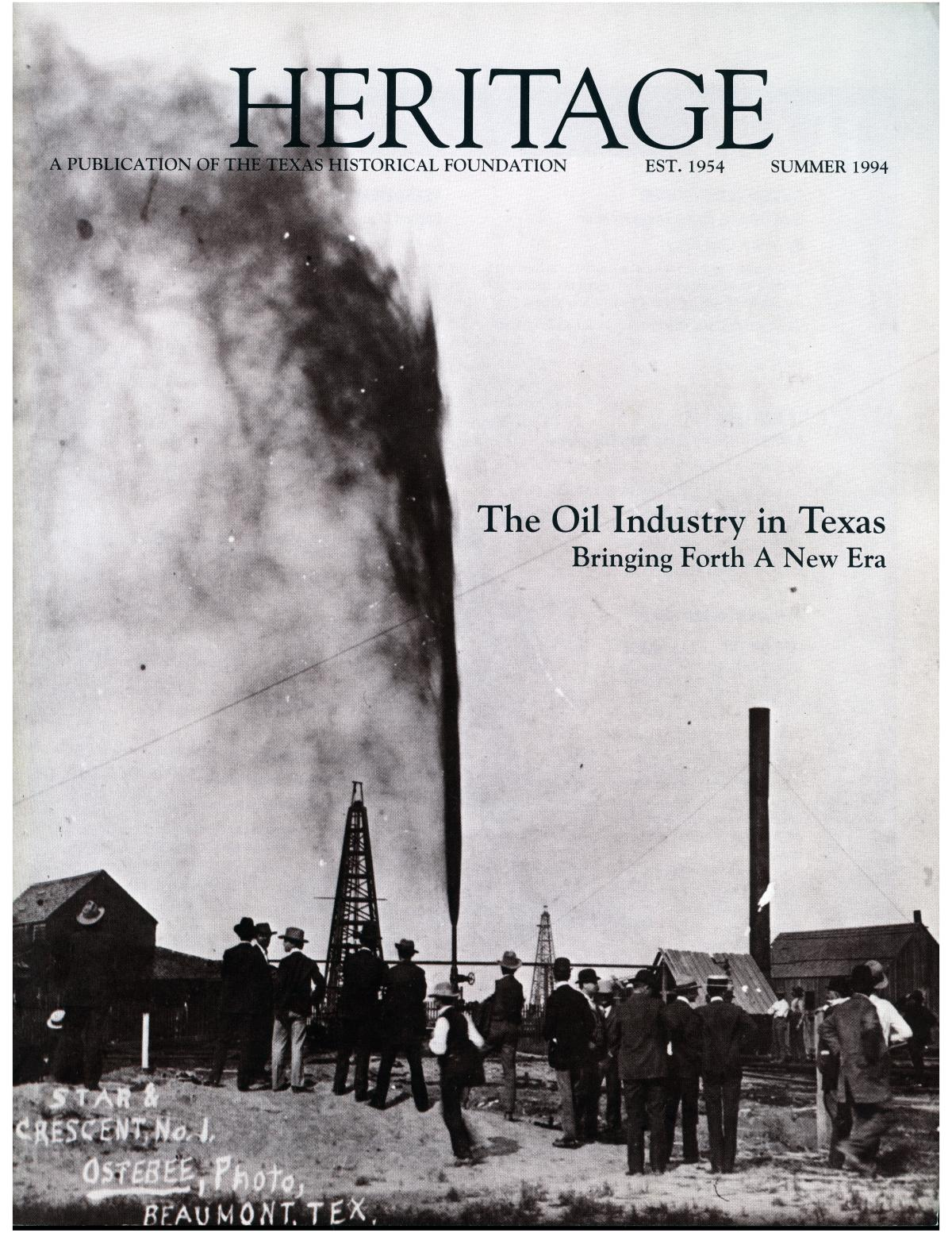 Heritage, Volume 12, Number 3, Summer 1994                                                                                                      Front Cover