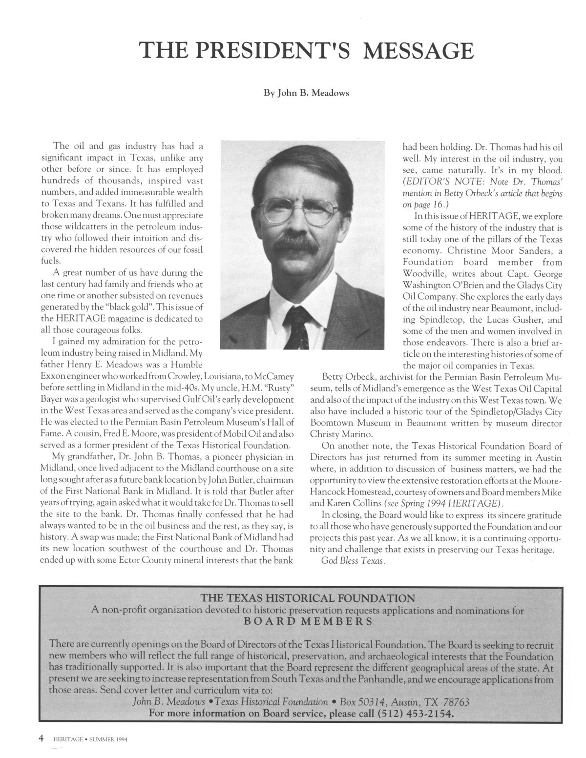 Heritage, Volume 12, Number 3, Summer 1994                                                                                                      4
