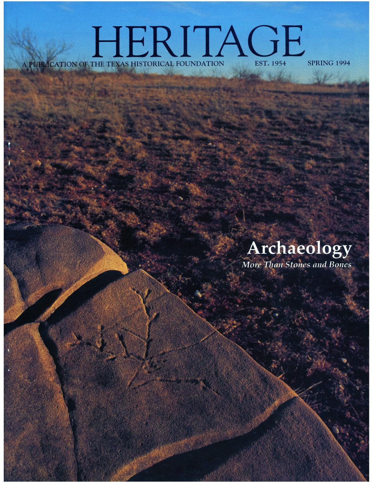 Heritage, Volume 12, Number 2, Spring 1994                                                                                                      Front Cover