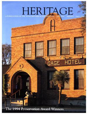 Heritage, Volume 12, Number 4, Fall 1994
