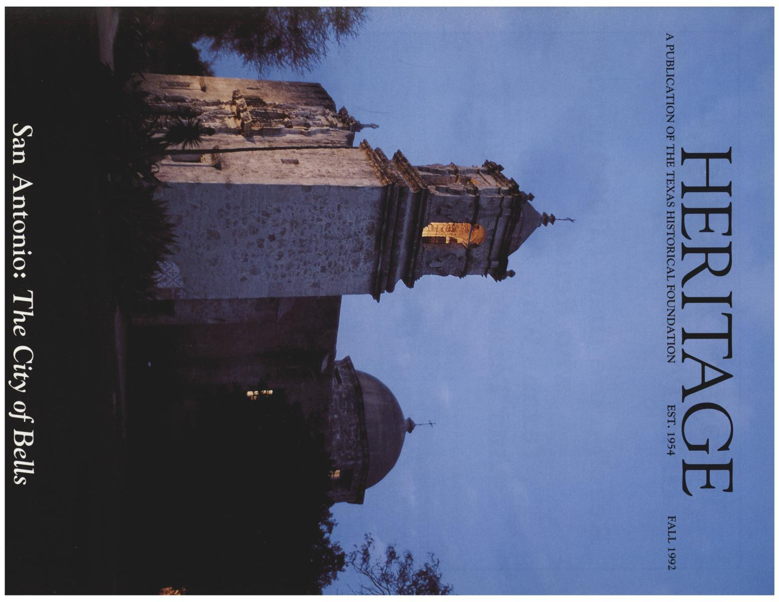 Heritage, Volume 10, Number 4, Fall 1992                                                                                                      Front Cover