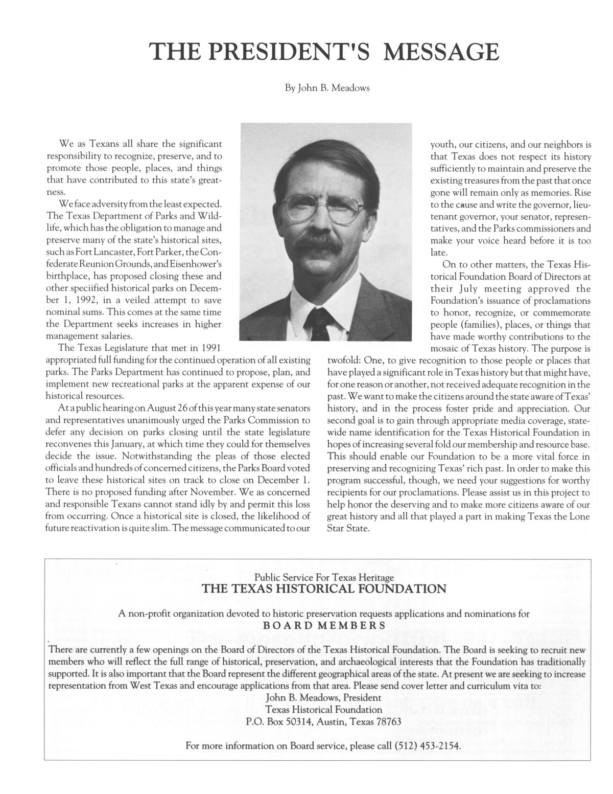 Heritage, Volume 10, Number 4, Fall 1992                                                                                                      4