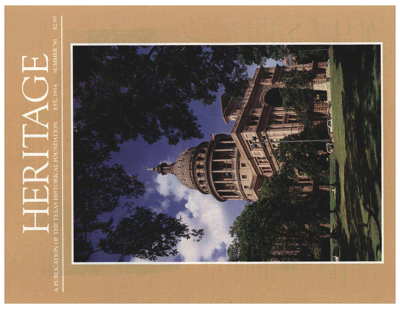 Heritage, Volume 9, Number 3, Summer 1991                                                                                                      Front Cover