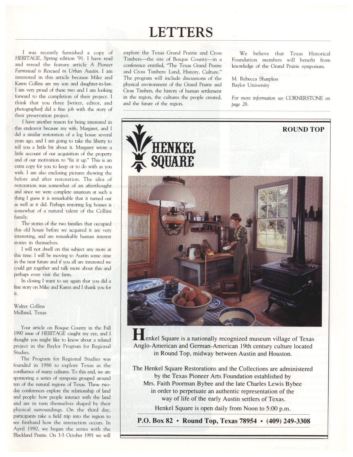 Heritage, Volume 9, Number 3, Summer 1991                                                                                                      5