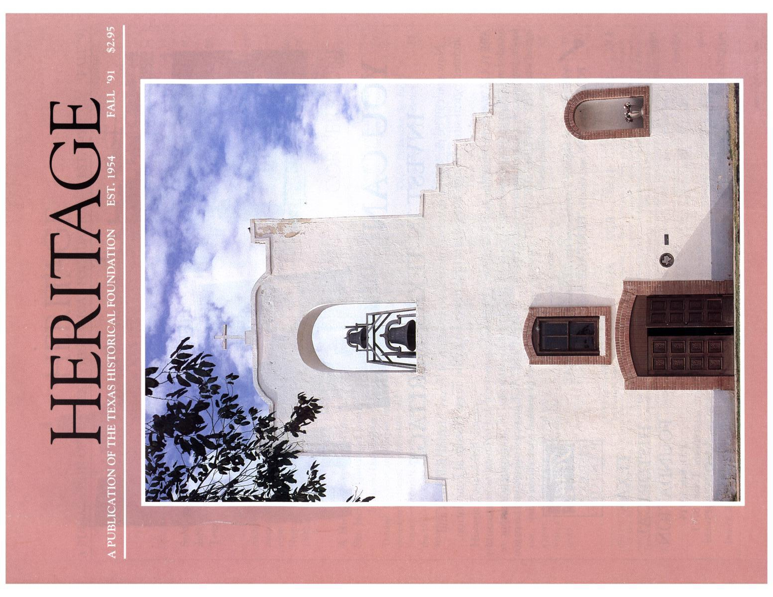 Heritage, Volume 9, Number 4, Fall 1991                                                                                                      Front Cover