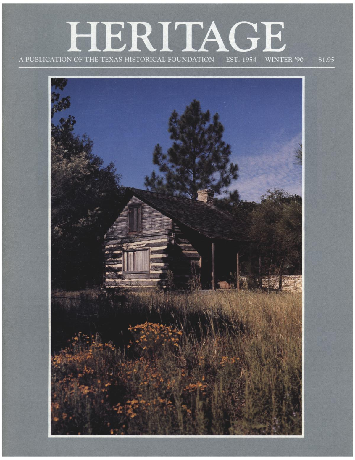Heritage, Volume 8, Number 1, Winter 1990                                                                                                      Front Cover