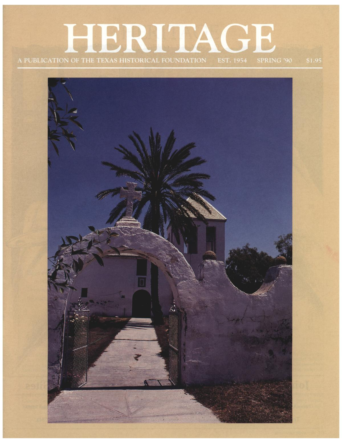 Heritage, Volume 8, Number 2, Spring 1990                                                                                                      Front Cover