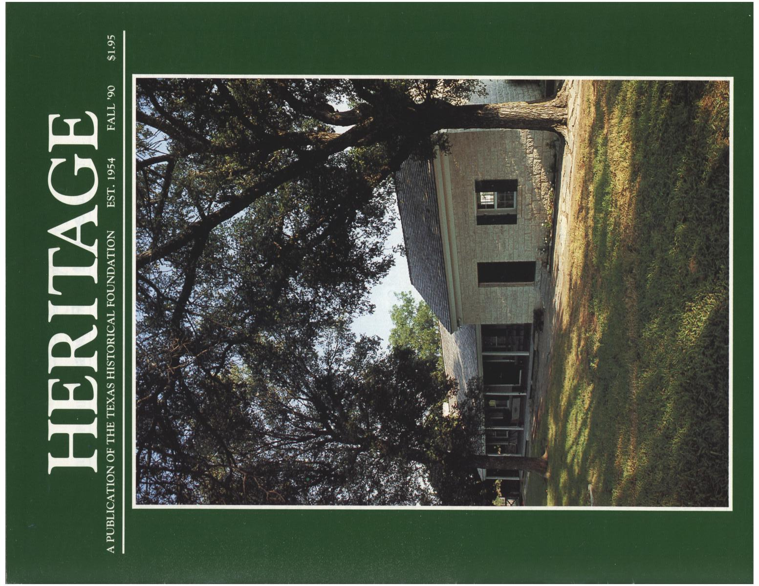 Heritage, Volume 8, Number 4, Fall 1990                                                                                                      Front Cover