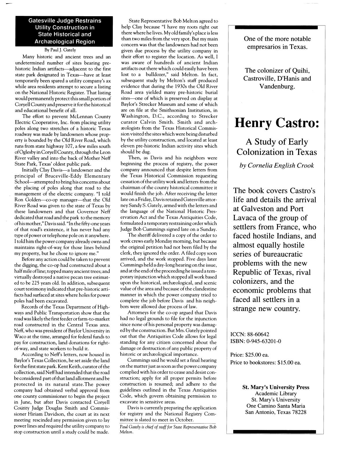 Heritage, Volume 8, Number 4, Fall 1990                                                                                                      29