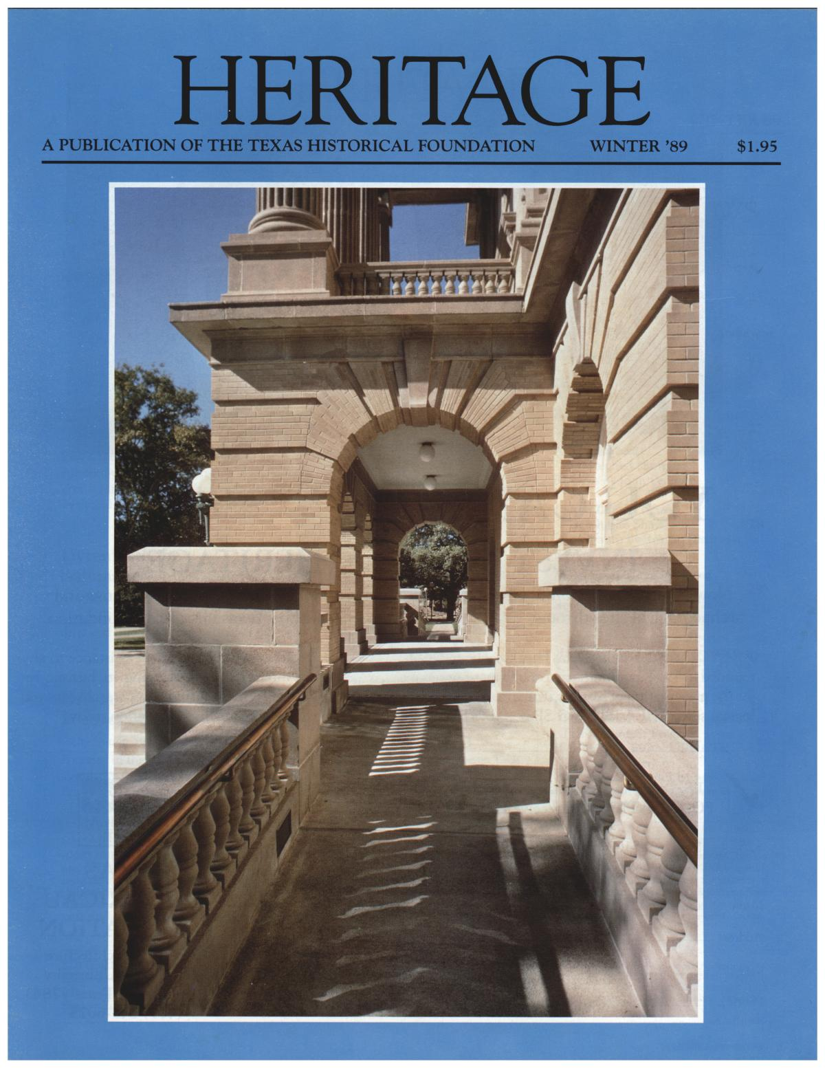 Heritage, Volume 7, Number 1, Winter 1989                                                                                                      Front Cover