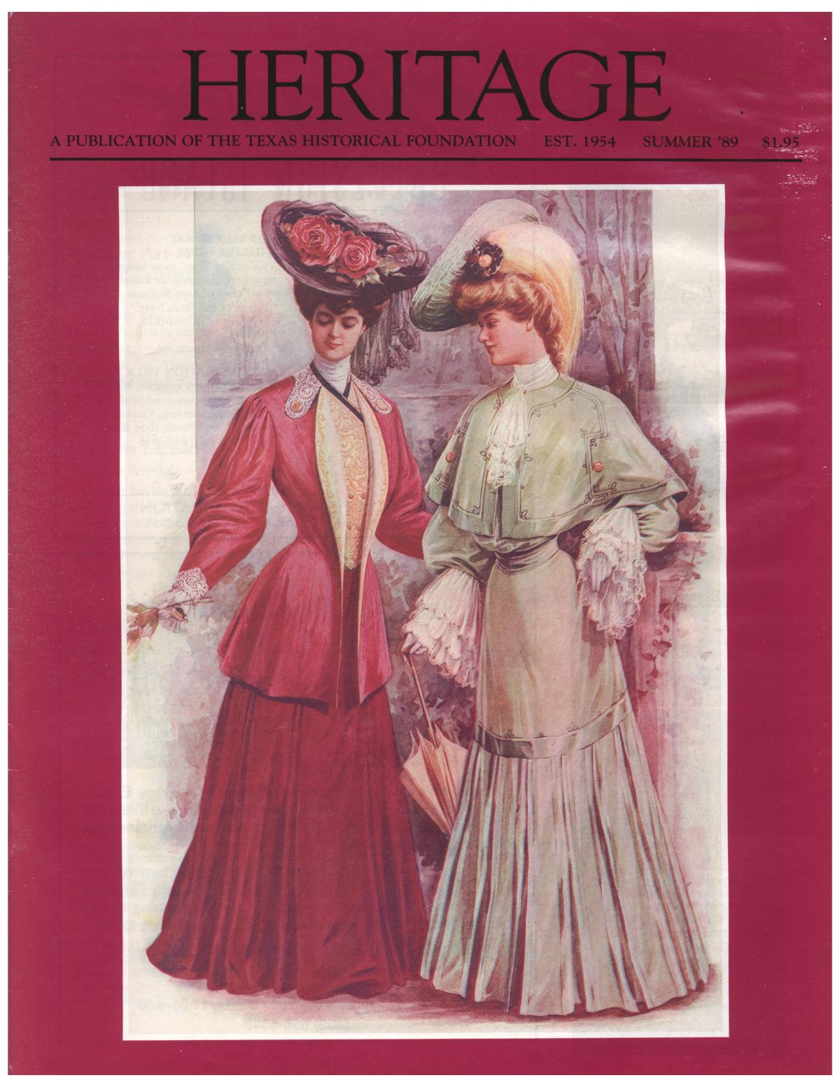 Heritage, Volume 7, Number 3, Summer 1989                                                                                                      Front Cover