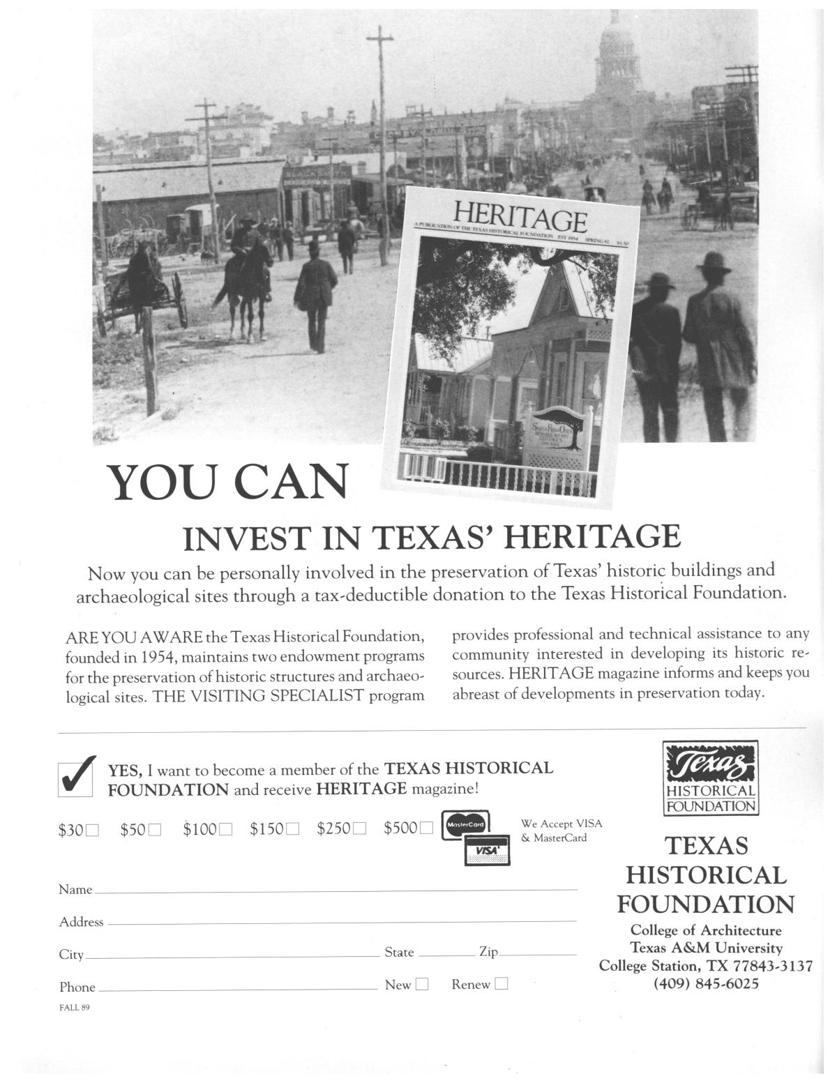Heritage, Volume 7, Number 4, Fall 1989                                                                                                      2
