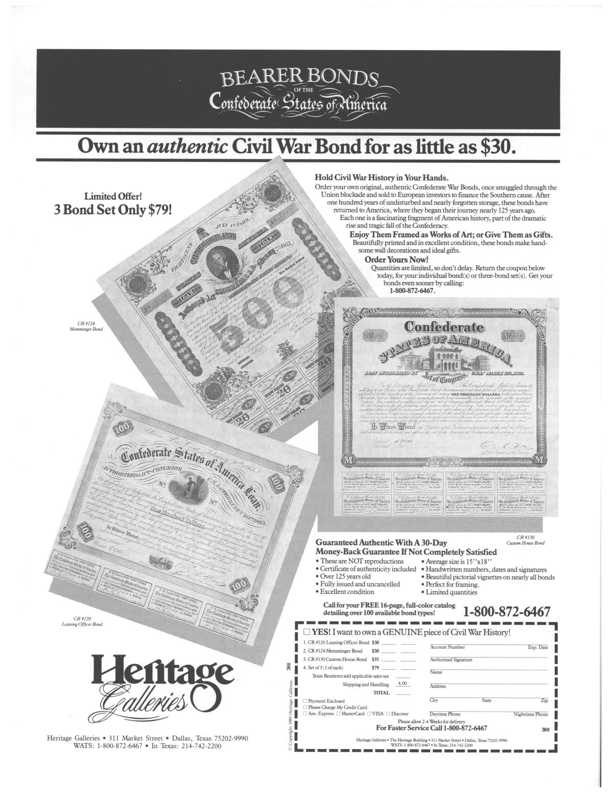 Heritage, Volume 7, Number 4, Fall 1989                                                                                                      21