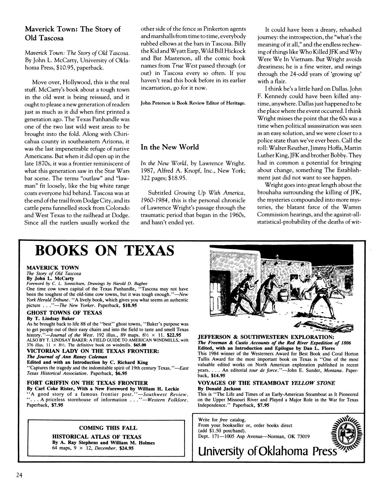 Heritage, Volume 6, Number 2, Summer 1988                                                                                                      24