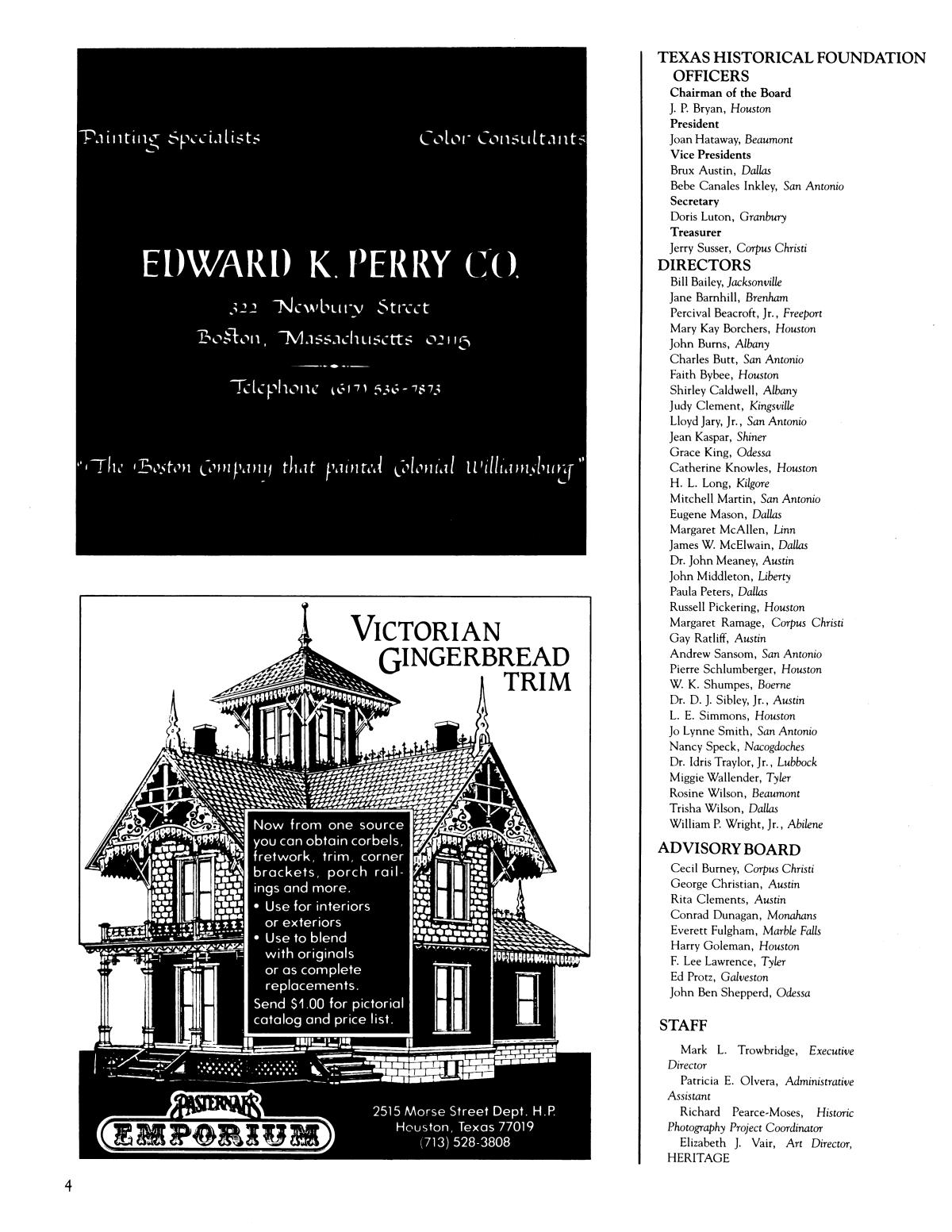 Heritage, Volume 5, Number 2, Summer 1987                                                                                                      4