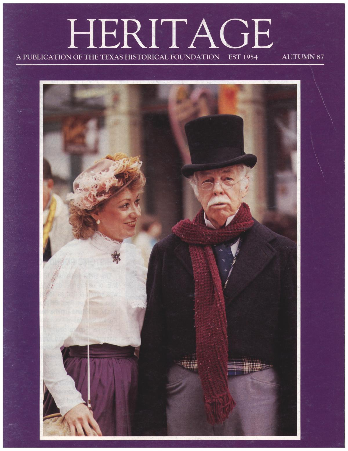 Heritage, Volume 5, Number 3, Autumn 1987                                                                                                      Front Cover