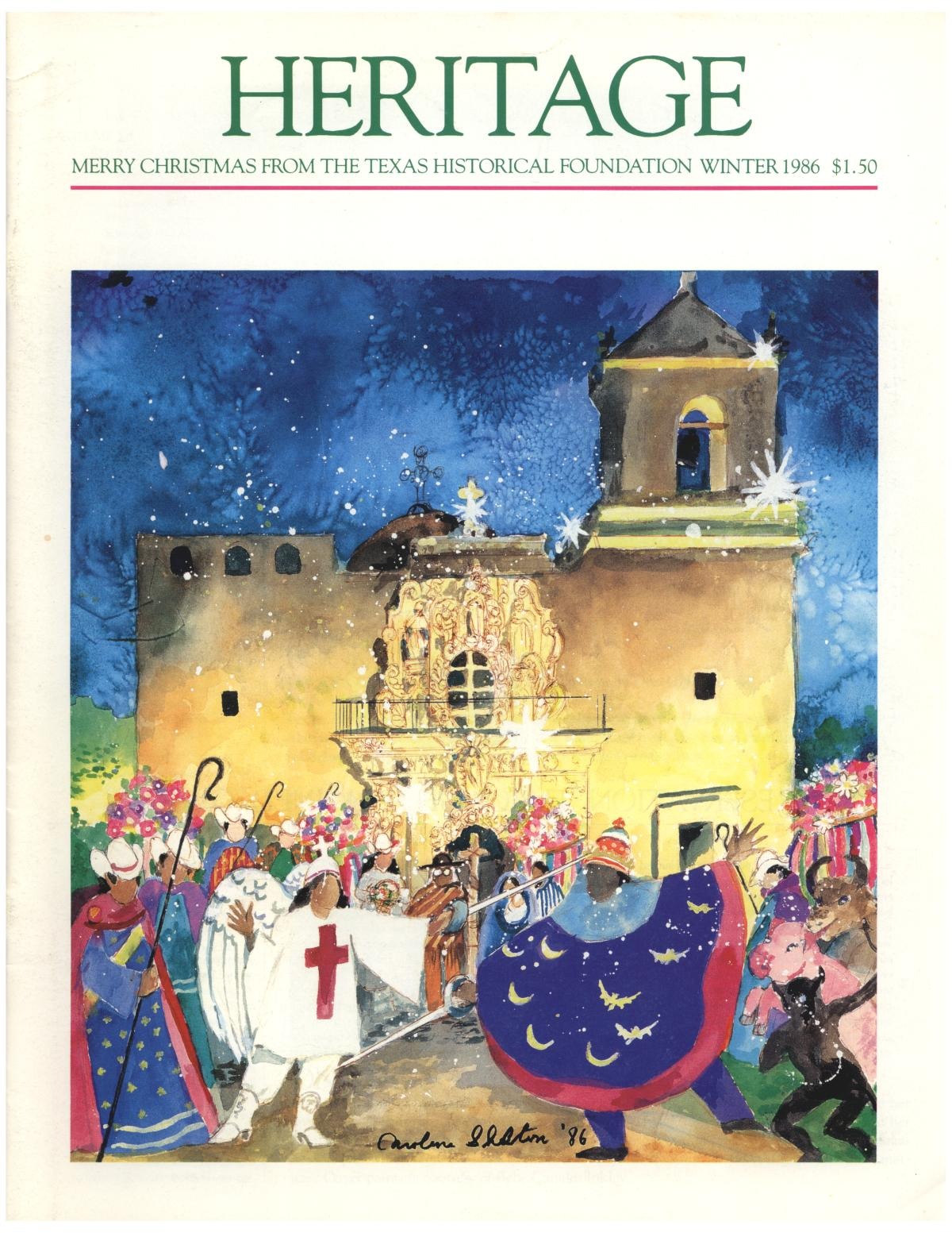 Heritage, Volume 4, Number 3, Winter 1986                                                                                                      Front Cover