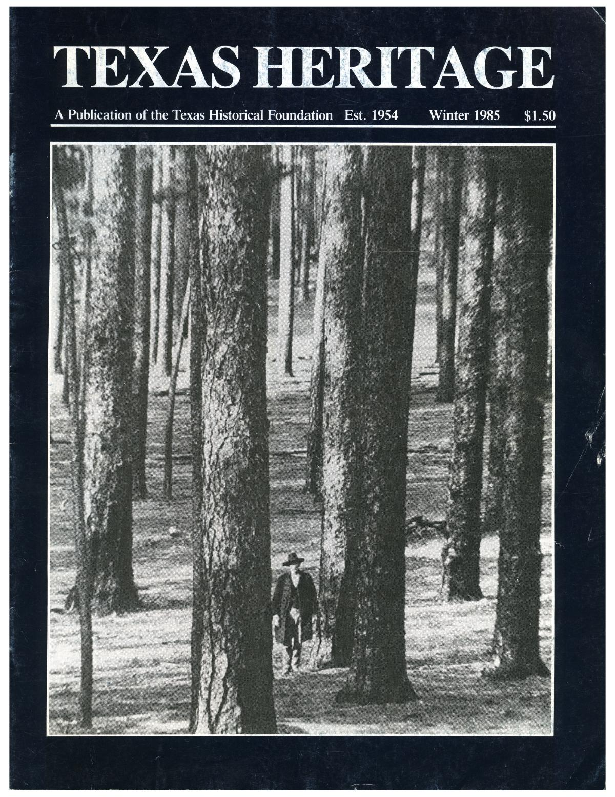 Texas Heritage, Winter 1985                                                                                                      Front Cover