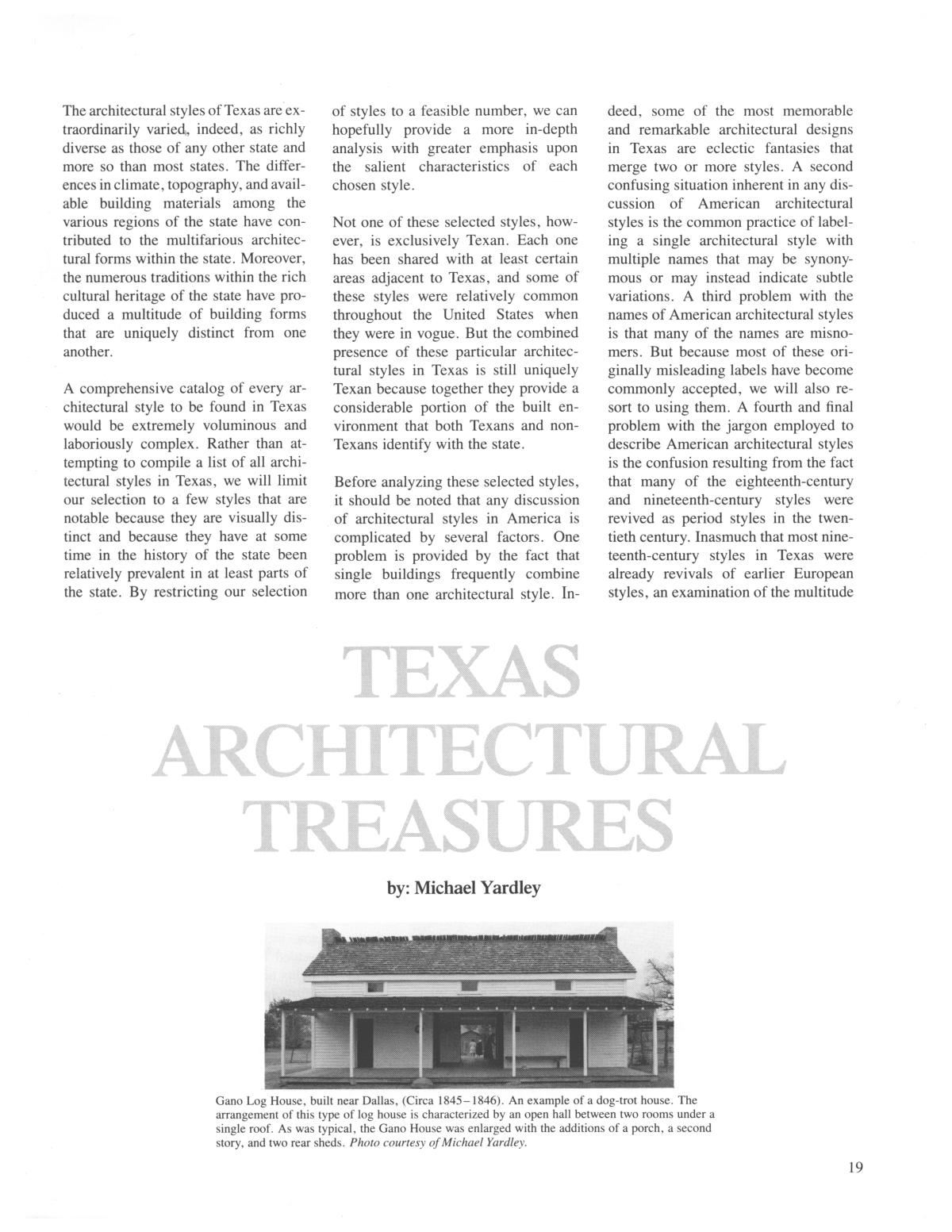 Texas Heritage, Winter 1985                                                                                                      19