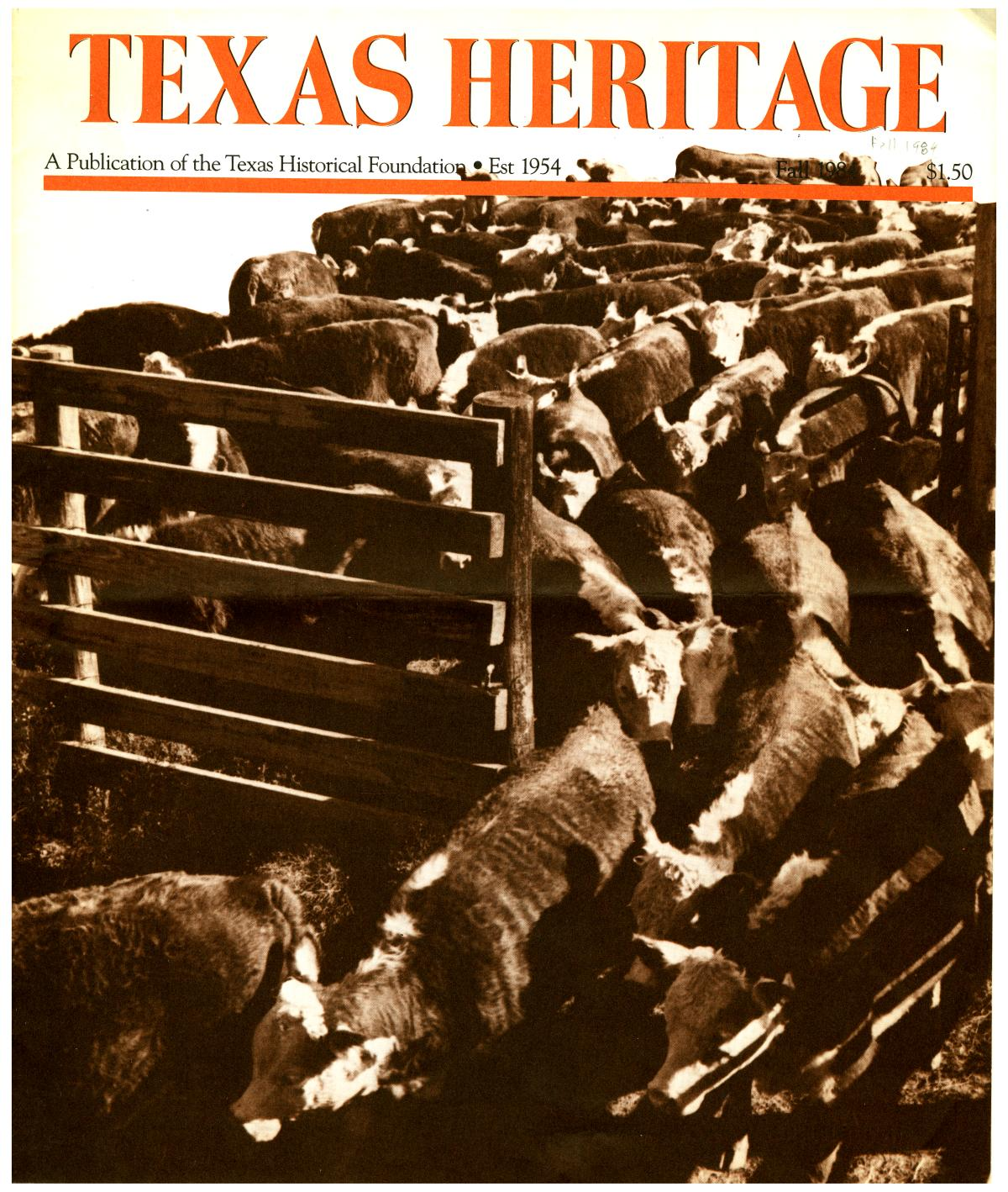 Texas Heritage, Fall 1984                                                                                                      Front Cover