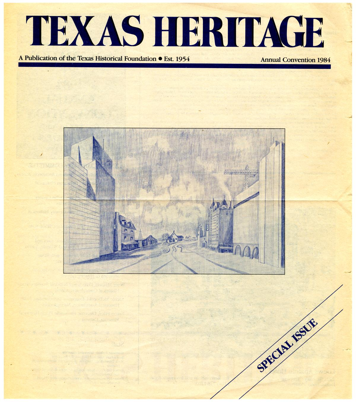 Texas Heritage, Special Issue: Annual Convention 1984                                                                                                      Front Cover