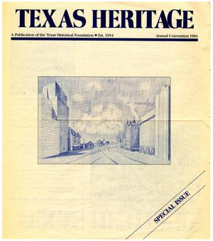 Primary view of object titled 'Texas Heritage, Special Issue: Annual Convention 1984'.