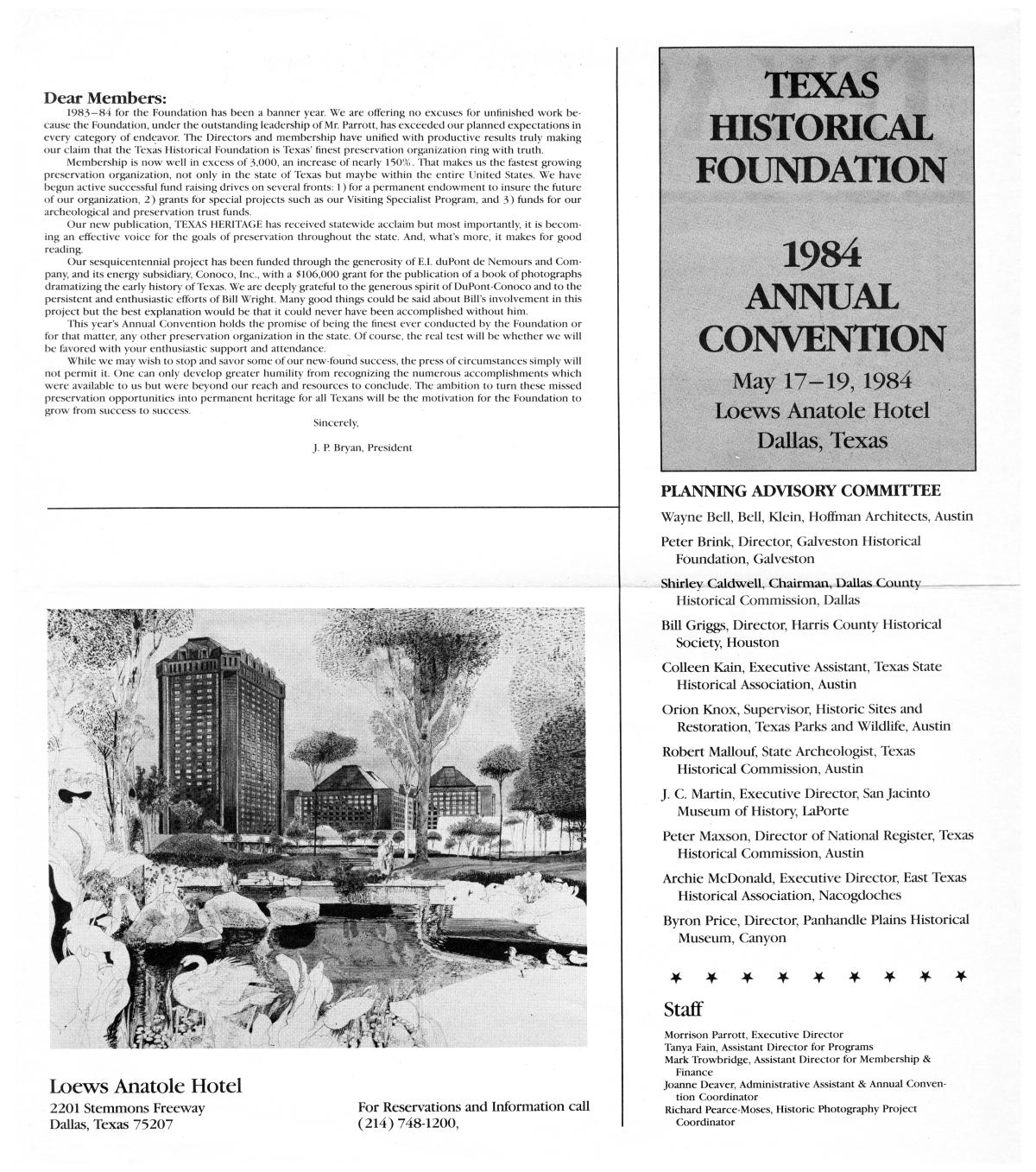 Texas Heritage, Special Issue: Annual Convention 1984                                                                                                      2