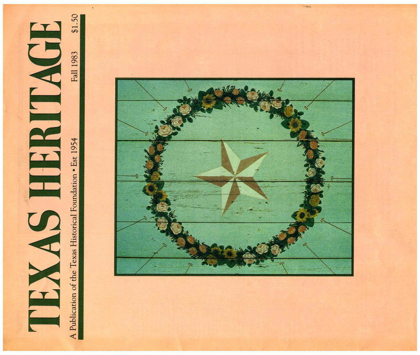 Texas Heritage, Fall 1983                                                                                                      Front Cover