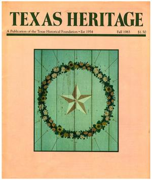 Primary view of object titled 'Texas Heritage, Fall 1983'.