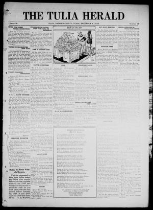 Primary view of object titled 'The Tulia Herald (Tulia, Tex), Vol. 16, No. 49, Ed. 1, Friday, December 4, 1925'.