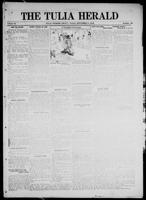 Primary view of object titled 'The Tulia Herald (Tulia, Tex), Vol. 16, No. 45, Ed. 1, Friday, November 6, 1925'.
