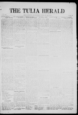 Primary view of object titled 'The Tulia Herald (Tulia, Tex), Vol. 16, No. 8, Ed. 1, Friday, February 20, 1925'.