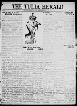 Primary view of object titled 'The Tulia Herald (Tulia, Tex), Vol. 17, No. 48, Ed. 1, Thursday, November 25, 1926'.