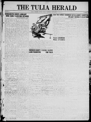 Primary view of object titled 'The Tulia Herald (Tulia, Tex), Vol. 17, No. 45, Ed. 1, Thursday, November 4, 1926'.