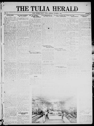 Primary view of object titled 'The Tulia Herald (Tulia, Tex), Vol. 17, No. 43, Ed. 1, Thursday, October 21, 1926'.