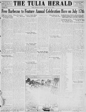 Primary view of object titled 'The Tulia Herald (Tulia, Tex), Vol. 24, No. 27, Ed. 1, Thursday, July 6, 1933'.