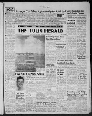 Primary view of object titled 'The Tulia Herald (Tulia, Tex), Vol. 46, No. 35, Ed. 1, Thursday, August 27, 1953'.